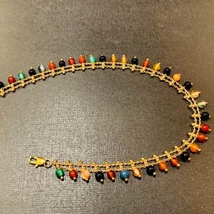Jewelry - Multi-Color Vintage Gold Bead Anklet | Payal Dance